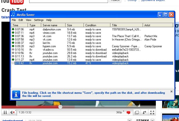 Click to view Media Saver 1.3 screenshot
